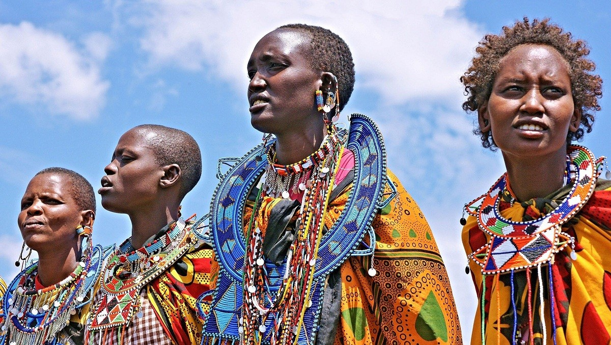 The Masai people in uniform