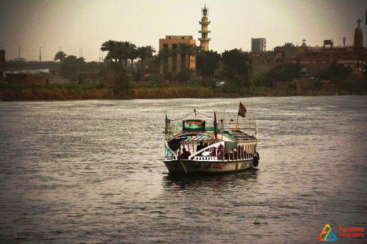 صورة بانورامية لنهر النيل في أسوان
