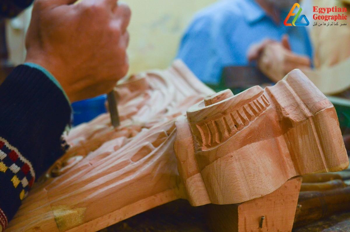 فن النحت علي الخشب
