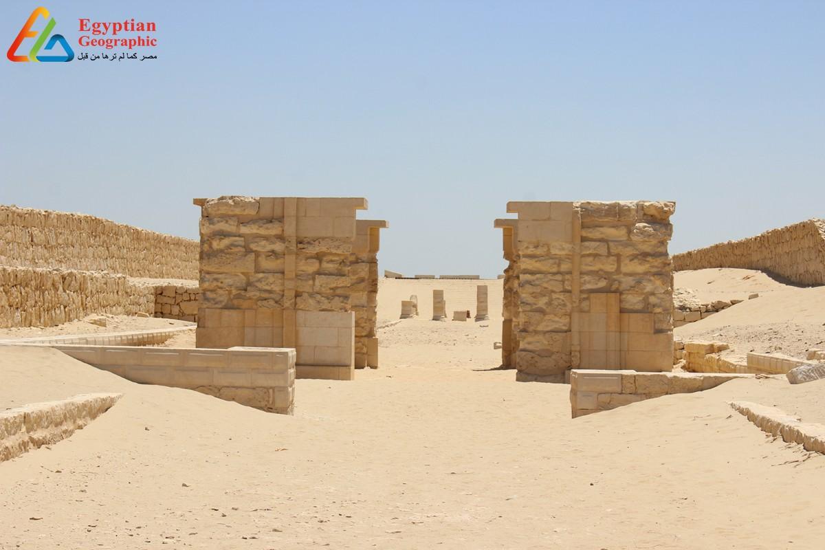 منظر بانورامي لطريق الكباش بمدينة ماضي الأثرية