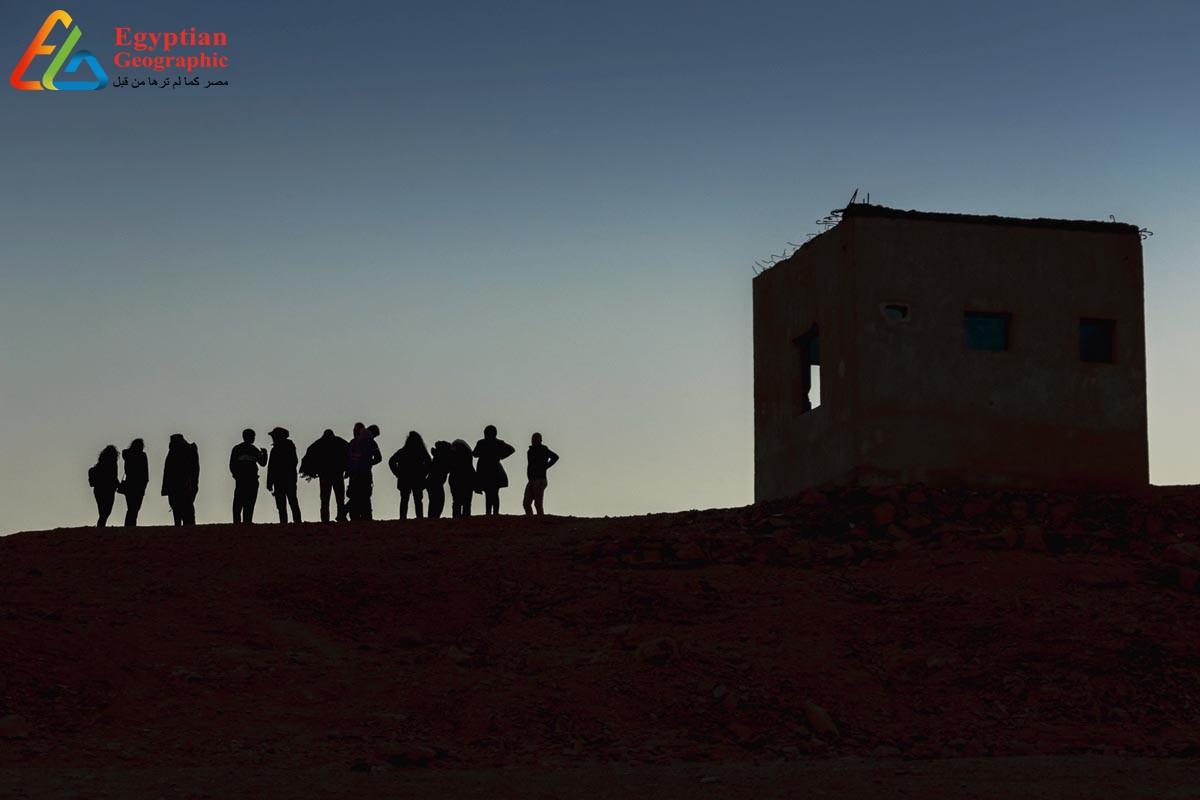 صورة بانورامية لقرية أم الحويطات وسط جبال البحر الأحمر