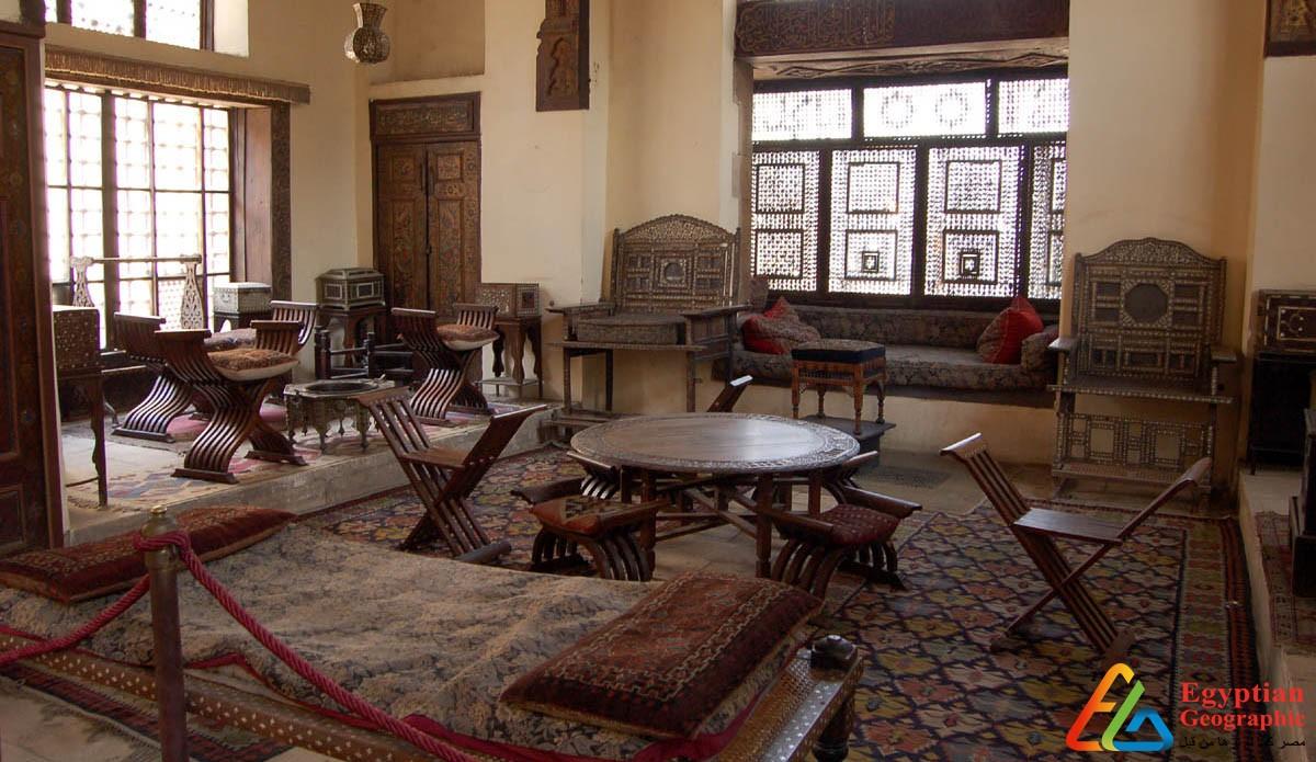متحف جاير أندرسون من داخل الحديقة الرئيسية
