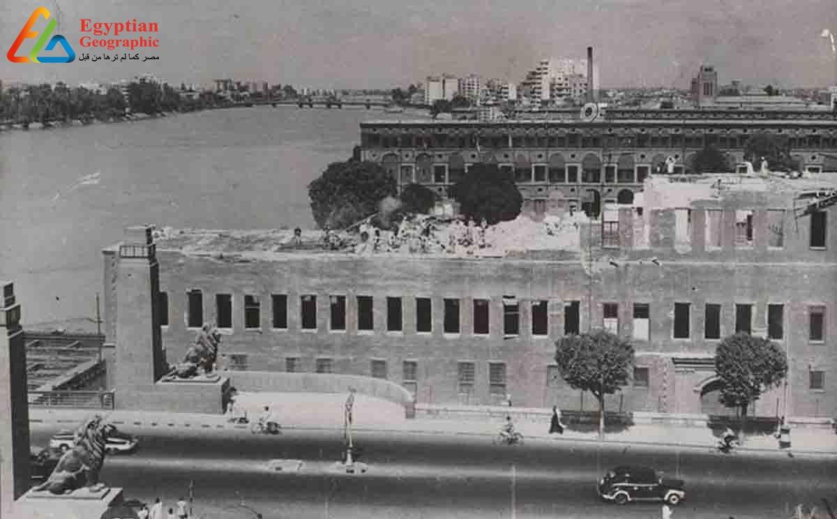 صورة جوية لثكنات قصر النيل العسكرية